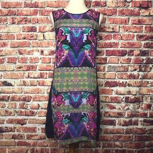 Anthropologie Kachel 100% Silk Sheath Dress